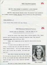 NANCY STAFFORD JAMES PRITCHARD THE DOCTORS SOAP OPERA 1982 NBC TV PRESS MATERIAL