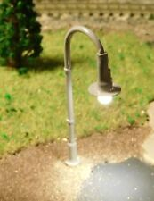 10 graue LED Straßenlaternen, Straßenlampen, 40 mm hoch (aus Metall)
