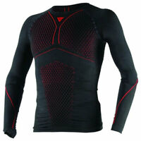 Dainese D-Core Thermo Moto Motorcycle Motorbike Long Sleeves T-Shirt Black / Red