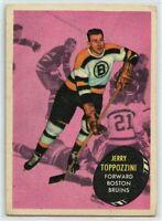 1961-62 Topps #9 Jerry Toppazzini VG - SET BREAK (112219-22)