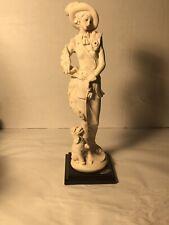 "Giuseppe Armani Figurine ""Lady With Poodle Dog"""