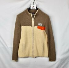 Patagonia 100% Cashmere Cardigan Womens Size XL Beige Undyed Tan Full Zip