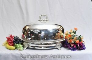 Silver Plate Meat Dome - Georgian Serving Plate Platter Cover