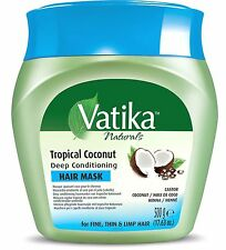 DABUR VATIKA TROPICAL COCONUT DEEP CONDITIONING HAIR MASK 500G