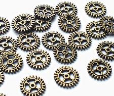 25 x mini 10mm bronze pignon roue dentée montre partie charme embellissement, steampunk