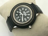 Fossil FSL Men Watch Black Leather Band Water Resistant 100M 10ATM Wrist Watch