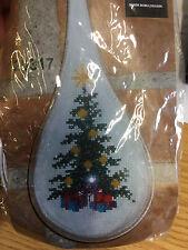 Arbre de Noël point de croix Ornement Avec Plastique Goutte Boîtier