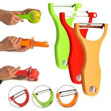 3pcs Vegetable Fruit Peeler Slicer Cutter Scalpel Julienne Serrated Kitchen Tool