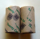 2x 1995 20c Roll United Nations security rolls Australia unc 20 cent coins 50th