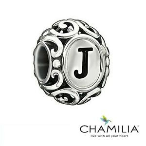 Genuine Chamilia 925 sterling silver initially speaking letter J bracelet charm