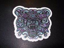 "MANIK APPAREL Art Sticker 3"" GRIZZLY BEAR skate skateboard from poster print"