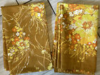 Vintage 1970's Wear Ever Cotton Double 2 Panel Shower Curtain Floral Rare 56 In.