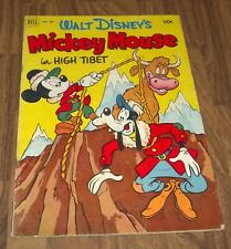 MICKEY MOUSE in high tibet DELL #387 FOUR COLOR COMIC 1952
