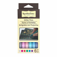GLITTER PENS Recollections Signature 411256 Set of 6 Brand NEW! Fine Tip