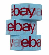 eBay Branded Packaging Strong Parcel Packing Tape 66m Long 48mm Wide - Blue/Red