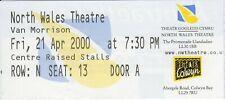 Van Morrison - Concert Ticket - North Wales Theatre, Llandudno - 21 Apr 2000