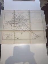 1885 City Of Dublin Ireland Map Ordnance Survey Office Boundary Commissioner