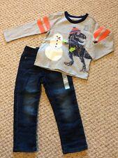 New w/Tags*GAP Brand Toddler Boy's L/S Outfit w/T-Rex & Denim Jeans*Size 3