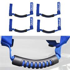 4Pcs Blue Unlimited Grab Handles Accessories For Jeep Wrangler Roll Bar YJ TJ JK