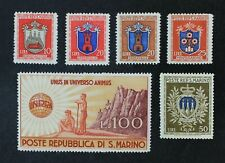 CKStamps: Italy Stamps Collection San Marino Scott#252-257 Mint H OG