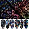 Holografisch Nagel Folien Aufkleber Nail Art Transfer Stickers 3D Dekoration