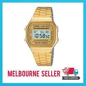 Casio Gold Classic Digital Watch A168W Gold Design Unisex Retro Vintage Melbourn