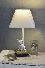 Tischlampe Hund Lampe Schirm Shabby Tischleuchte Chihuahua Hundefigur Leuchte