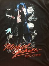 Michael Jackson King Of Pop Black T-Shirt Black 2009