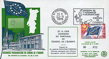 "CE28-IIA FDC Council Europe ""Adhesion Portugal - Mr. MEDEIROS FERREIRA"" 09-1976"