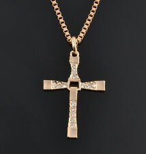 1PC The FAST and The FURIOUS Dominic Toretto's Cross Pendant Chain Necklace Gift