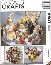 8607 UNCUT Vintage McCalls Sewing Pattern Craft Bunny Picnic Joanne Beretta 19""