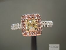 .30ct Y-Z SI1 Radiant Cut Pink Diamond Halo Ring R5196 Diamonds By Lauren