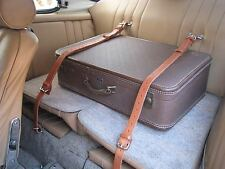 PORSCHE 356 Coupe Interior Rear Back Seat BLACK Leather Luggage Belts Straps