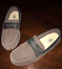 $120 Ugg Men's Size 10 Tucker Loafer Slip-On Brown Wool Australian Slippers