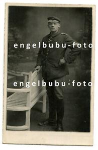 PORTRAIT-FOTO - BAYERN / PREUSSEN - Maschinengewehr-Abteilung - MG-Abzeichen