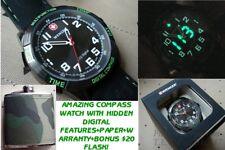 NEW ANI-DIGITAL NOMAD COMPASS 70433 WENGER SWISS ARMY WATCH BY VICTORINOX +BONUS