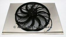 "16"" Curved Blade Electric Fan and 31"" Aluminum Shroud Kit - Fits 31x19 Radiator"