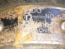"Toledo Threading Machine Co. No. 1 Pipe Threader Threads 1""- 2"" Pipe"