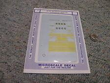 Microscale decals N 60-785 Belt Railway Chicago locomotives 1950+  E48