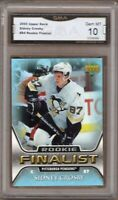 GMA 10 Gem Mint SIDNEY CROSBY 2005/06 Upper Deck All Time Greatest Insert ROOKIE
