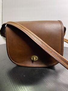 Vintage Coach NYC Brown Small Shoulder Bag 9530