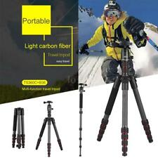 OBO Carbon Fiber Portable Video Camera Travel Tripod Monopod Stand & Ball Head