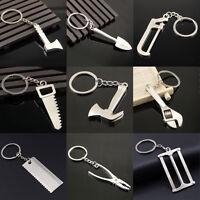 Silver Men Creative Alloy Metal Keyfob Car Keyring Keychain Key Chain Ring Gift