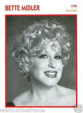 BETTE MIDLER ACTRICE ACTRESS FICHE CINEMA USA 90s