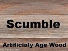 Cristaux scumble-comme utilisé par le commerce antique de l'âge et restauration des meubles en bois 25g