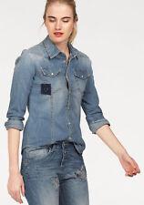 Please Jeansbluse, mid blue. Gr. XS/34. NEU!!! KP 99,95 €