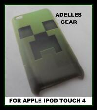FOR APPLE IPOD TOUCH 4 -GREEN CREEPER- HARD BACK CASE COVER