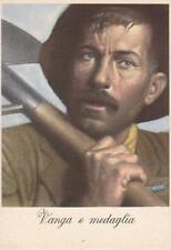 A9249) WW2, VANGA E MEDAGLIA. ILLUSTRATORE BOCCASILE.