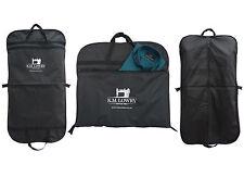 "Black / Navy 44"" Suit Carrier Garment Cover Travel Bag. Strong Nylon. K.M. Lowry"