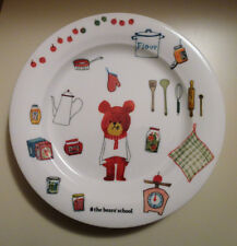 3 Narumi Bandai The Bears Bears' School Cooking Chef Artist Jackie Dinner Plates